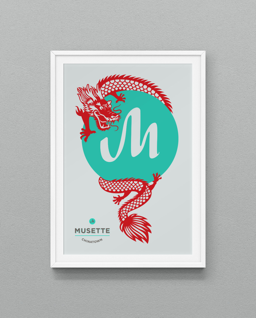 Musette Chinatown Poster – Jonathan Wood Design